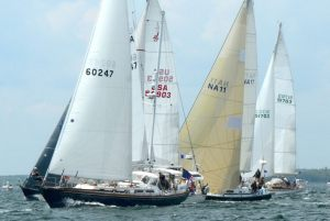 'Swift' the US Naval Academy 44 (NA11) took home a treasure trove of prizes from the 2015 Marion Bermuda Race.