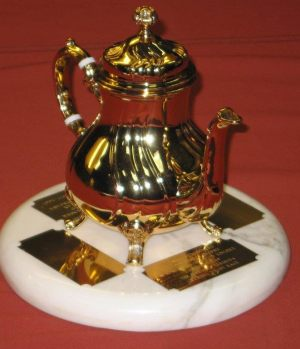 Ancient Mariners Golden Teapot Trophy